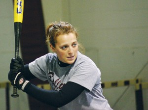 <span class='credit'>Torch File Photo</span><span class='description'>Eye on the Prize: Practicing softball in the batting cages.</span>