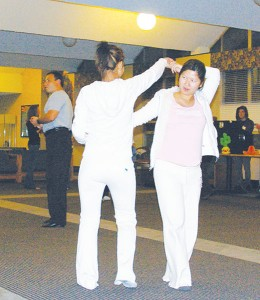<span class='credit'>Torch File Photo</span><span class='description'>Latin Night Club: Students learning some Latin dance moves last year during Hispanic Heritage Month.</span>