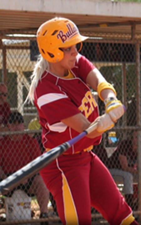 Conference Play: Lynsay Weaver, senior shortstop, steps up to bat during a Ferris State softball game. The Bulldogs went 3-3 in the GLIAC conference this past weekend. Photo Courtesy of Ferris State Athletics