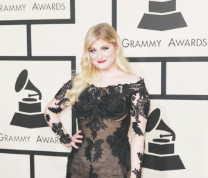 Meghan Trainor arrives at the 57th Annual Grammy Awards at Staples Center in Los Angeles on Sunday, Feb. 8, 2015