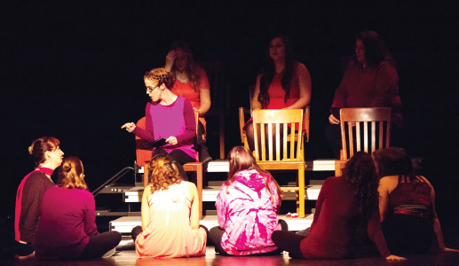 """On Feb. 19, """"The Vagina Monologues"""" was brought to Ferris to spotlight issues surrounding womanhood, and to encourage open discussion about them."""