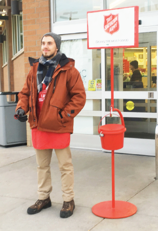 Ferris optometry graduate student Ethan Zimmerman enjoys the opportunity that bellringing provides to give back.